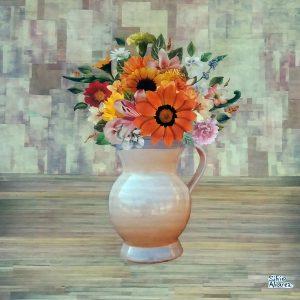 Jarro Com Flores II